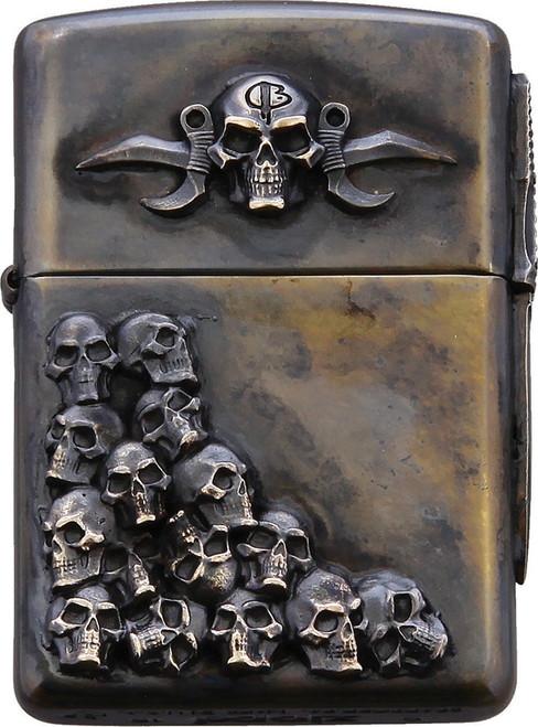Skulls Zippo Lighter Double
