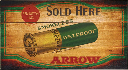Arrow Sold Here Wood Sign