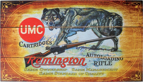 UMC Cartridges Wolf Wood Sign
