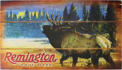Bugling Elk Wood Sign