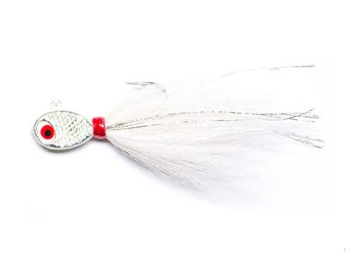 Mustad Saltwater Tamer Bucktail Jig (Color: Glow White)
