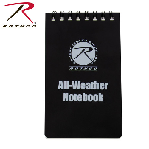 """Rothco All Weather Waterproof Notebook 3""""x5"""" - Black"""