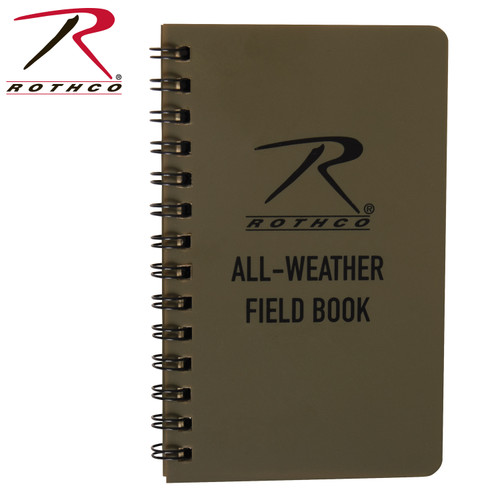"""Rothco All Weather Waterproof Notebook 3"""" x 5"""" - Coyote"""