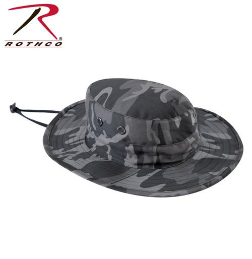 Adjustable Boonie Hat - Black Camo
