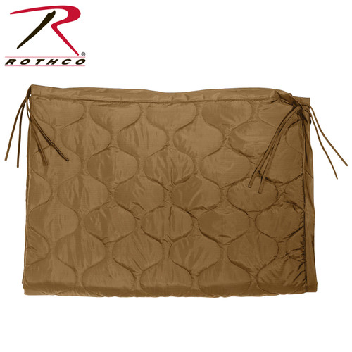 Rothco Enhanced G.I. Type Rip-Stop Poncho Liner w/Zipper - Coyote Brown