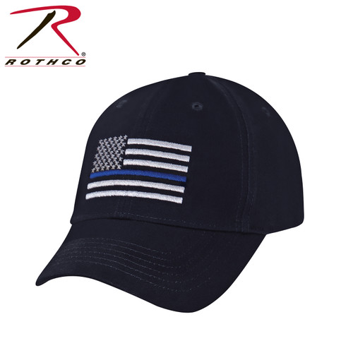 Rothco Thin Blue Line Flag Low Profile Cap - Navy Blue