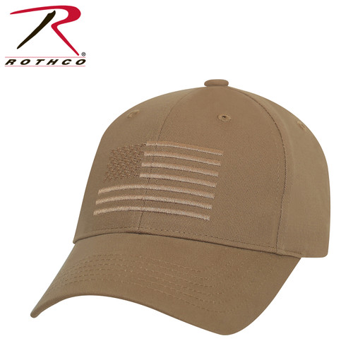 Rothco U.S. Flag Low Profile Cap - Coyote Brown