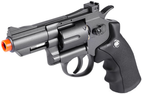 """WG CO2 Full Metal High Power Airsoft 6mm Magnum Gas Revolver (Length: 2"""")"""