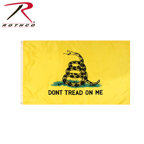 Don't Tread On Me Flag - Yellow