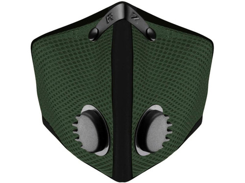 RZ Mask M2 Mesh Reusable Dust/Pollution Masks (Color: Forest Green)