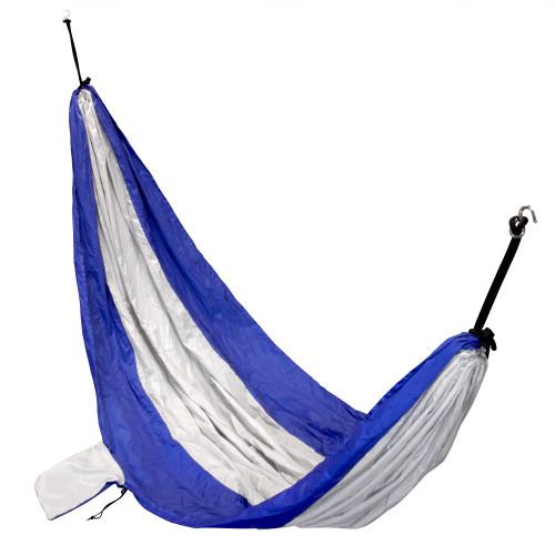 VISM Nylon Parachute Hammock - Blue & Silver