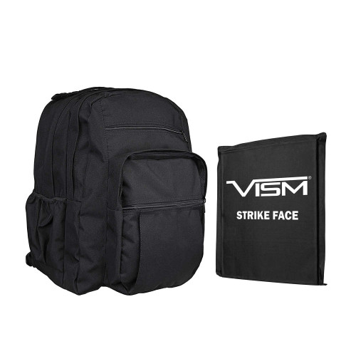"VISM 2979 Day Backpack w/10""X12"" Soft Panel - Black"