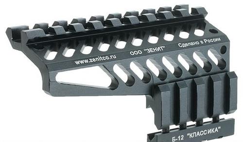 Zenimei CNC Aluminum B-12 Rail Mount for AK Series AEG / GBB Rifles - Black