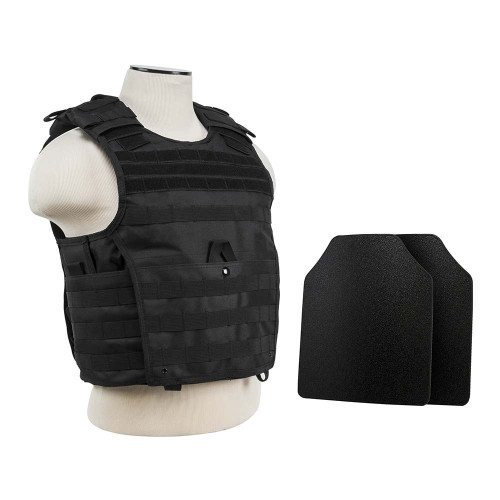 "Expert Plate Carrier w/UHMWPE 10""X12' Level IIIA STR's Cut 2X Hard Ballistic Plates [Med-2XL]"