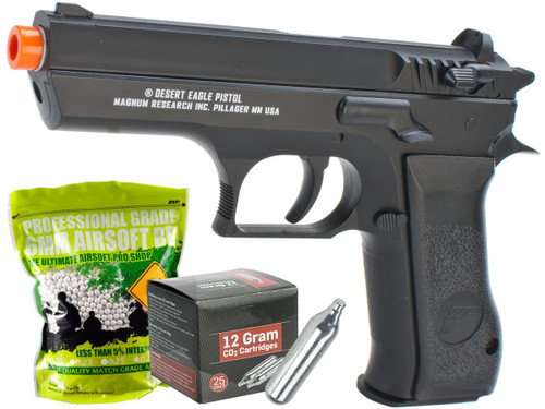 Magnum Research Jericho 941 Baby Desert Eagle Airsoft CO2 Pistol by Cybergun (Package: Starter Package)