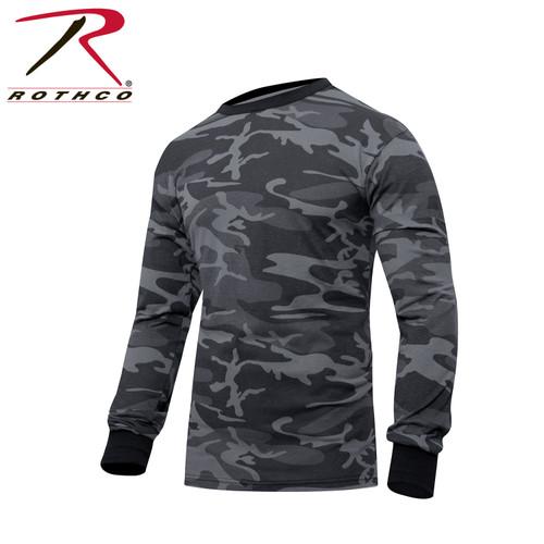 Rothco Long Sleeve T-Shirt - Black Camo