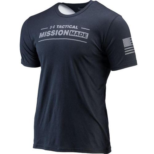 "Under Armour UA Tac ""Mission Made"" T-Shirt (Color: Black / Grey)"
