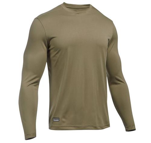 Under Armour Men's Tactical UA Tech Long Sleeve T-Shirt (Color: Federal Tan)
