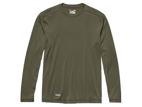 Under Armour Men's Tactical UA Tech Long Sleeve T-Shirt (Color: OD Green)