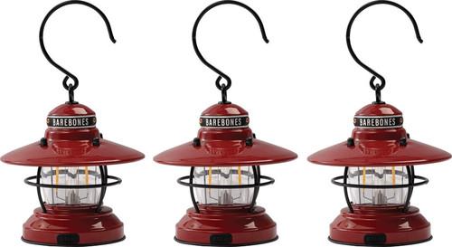Edison Mini Lantern Red 3-pack