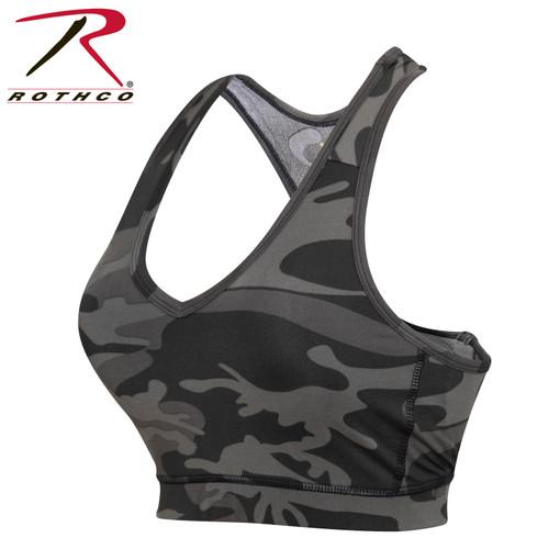 Rothco Camo Sports Bra - Black Camo