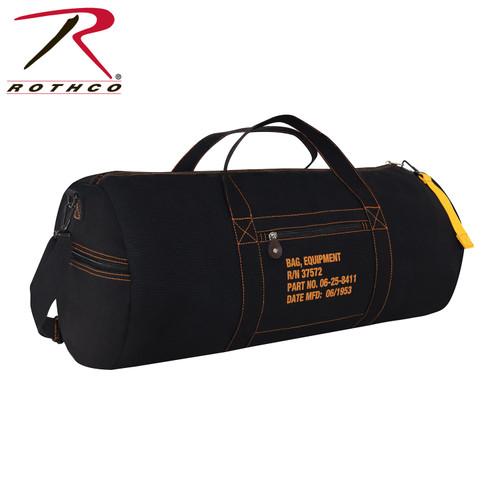 Rothco Canvas Equipment Bag - 24 Inches - Black
