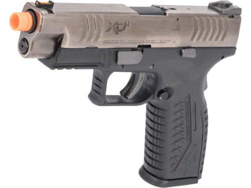 Springfield Armory Licensed XDM Gas Blowback Airsoft Training Pistol (Model: 4.5 Duty / Black w/ Antique Stainless Slide)
