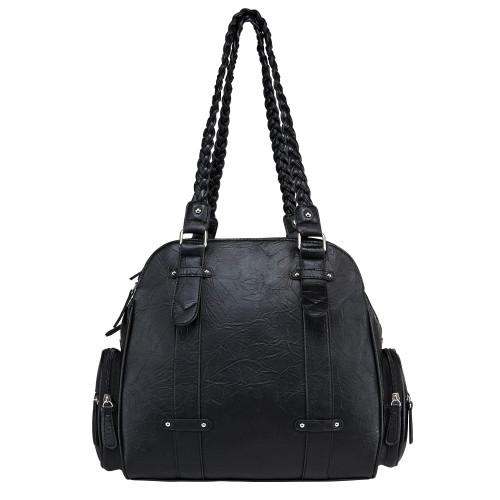 VISM Braided Shoulder Bag - Black