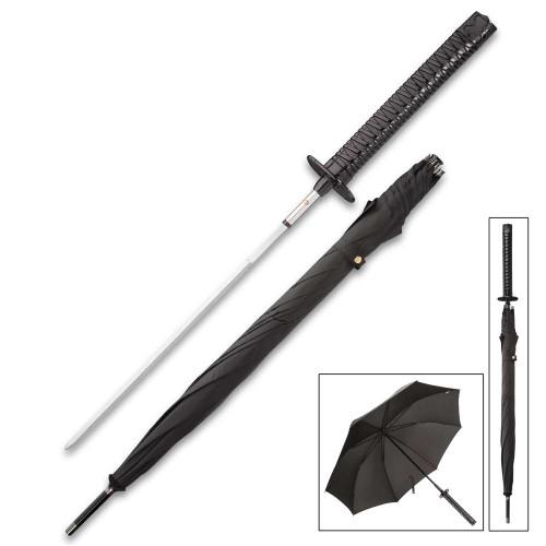 Black Umbrella Sword w/ Katana Handle