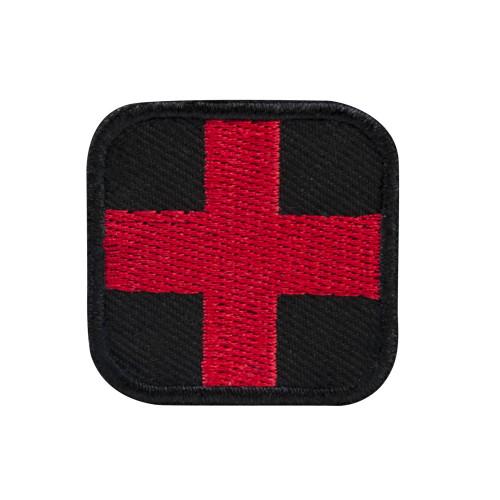 "VISM First Aid Patch 1.5"" - Red w/Black Trim"