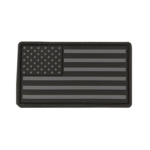 USA Flag Patch PVC Black