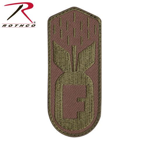 Rothco F-Bomb Patch w/Hook Back - Coyote Brown