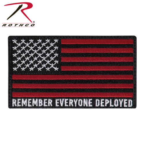 R.E.D. (Remember Everyone Deployed) Flag Patch w/Hook Back
