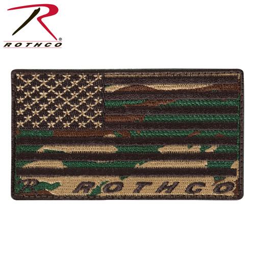 Rothco Brand US Flag Patch - Woodland