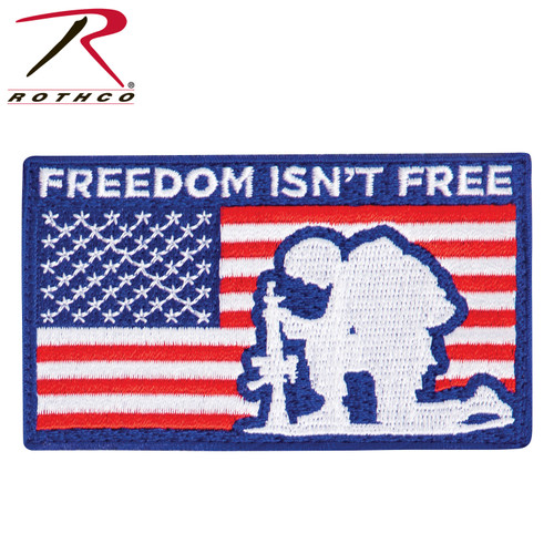 Rothco Freedom Isn't Free Patch w/Hook Back