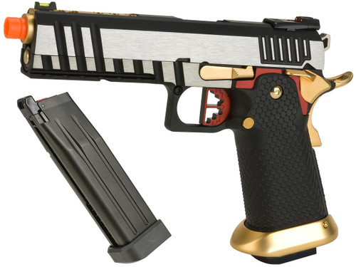 "AW Custom ""Competitor"" Hi-CAPA Gas Blowback Airsoft Pistol (Package: Two-Tone / Add Extra Magazine)"