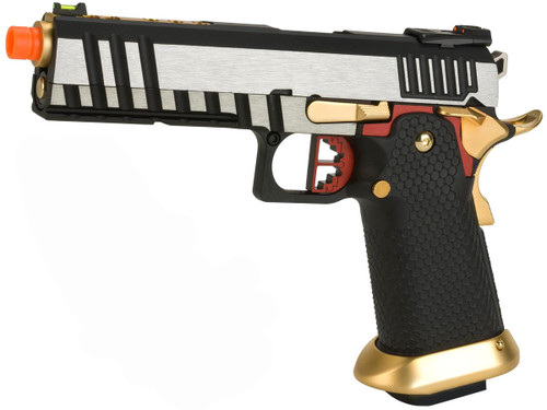 "AW Custom ""Competitor"" Hi-CAPA Gas Blowback Airsoft Pistol (Package: Two-Tone / Green Gas)"
