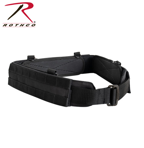 MOLLE Lightweight Low Profile Tactical Battle Belt - Black