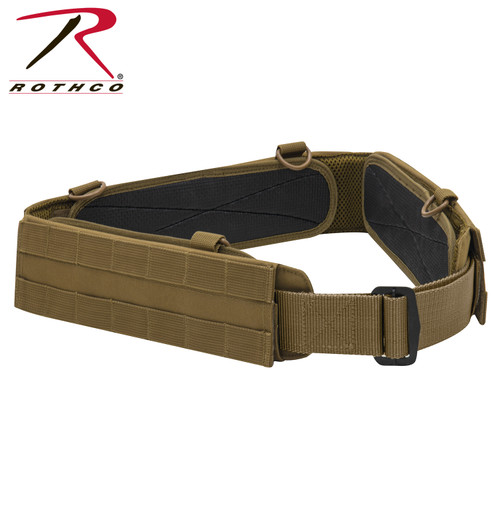 MOLLE Lightweight Low Profile Tactical Battle Belt - Coyote Brown