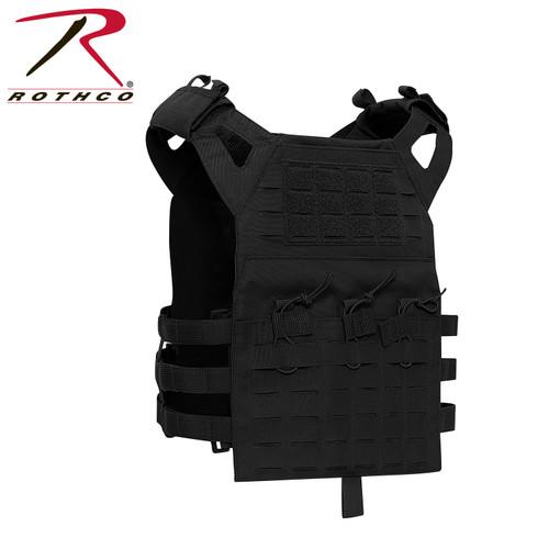 Rothco Laser Cut Lightweight Armor Carrier MOLLE Vest - Black