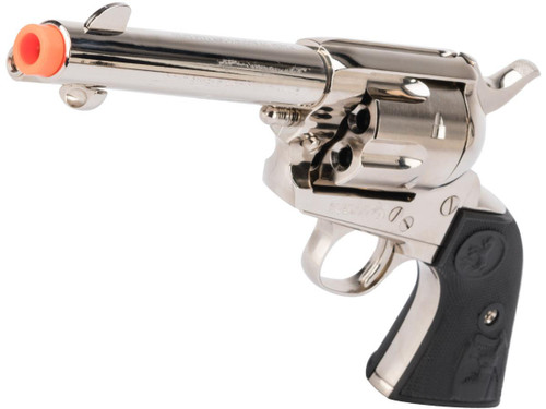 "Tanaka Licensed Colt Single Action Army .45 Gas Powered Revolver (Model: 4"" Barrel / Nickel Chrome Finish)"