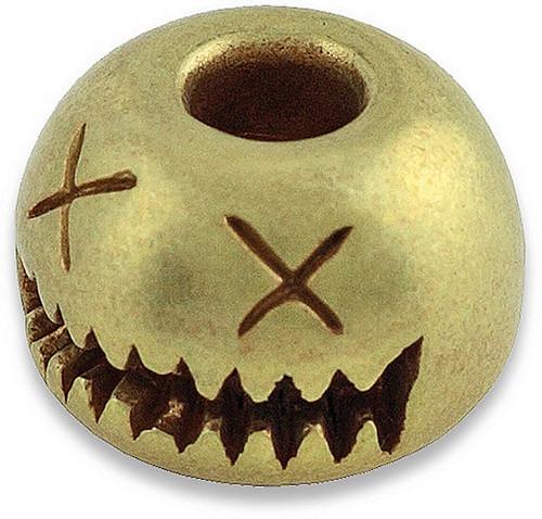 Smiley Bead Brass
