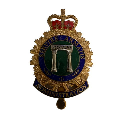 Canadian Army Administration Cap Badge