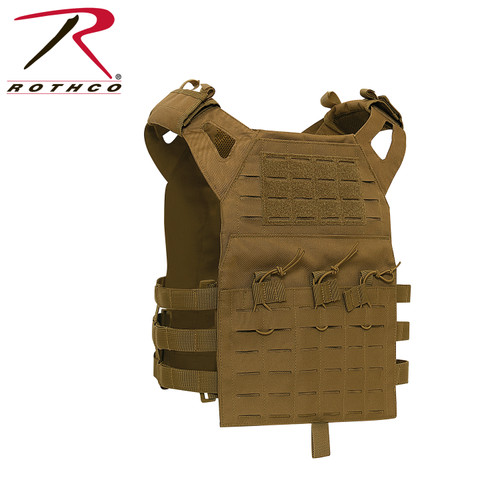 Rothco Laser Cut Lightweight Armor Carrier MOLLE Vest - Coyote