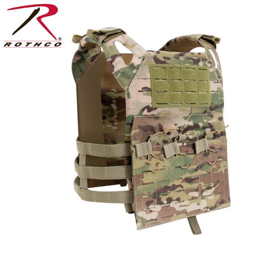 Rothco Laser Cut Lightweight Armor Carrier MOLLE Vest - Multicam