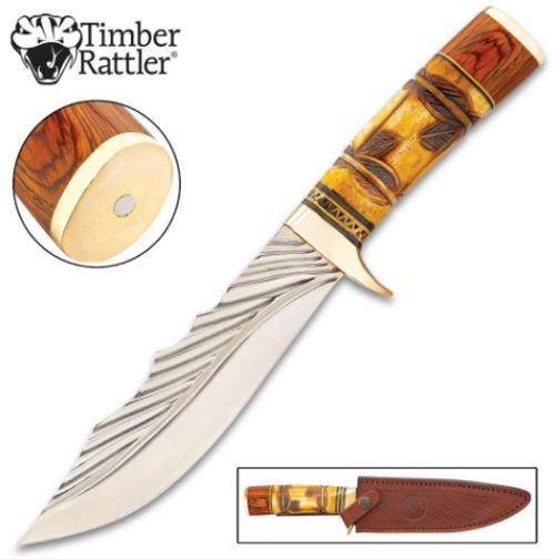 Timber Rattler Nairobi Hunter Knife w/ Sheath