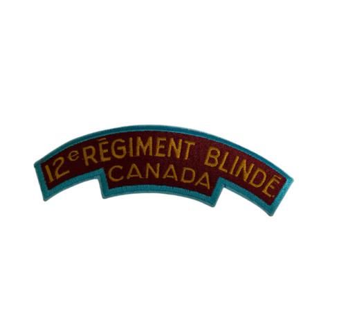 12e Regiment Blinde Canada Patch