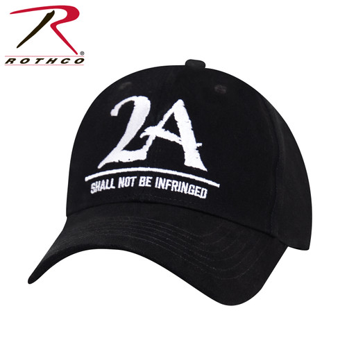 """Rothco 2A """"Shall Not Be Infringed"""" Low Profile Cap - Black"""