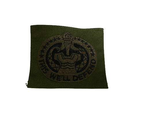 """U.S. Army OD Green Subdued Drill Sergeant """"This We'll Defend"""" Pocket Patch"""