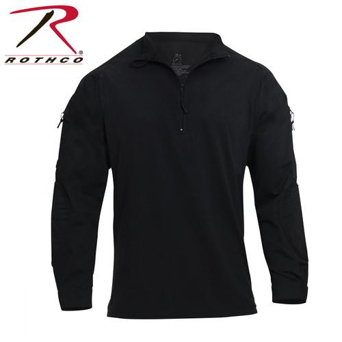 Rothco 1/4 Zip Tactical Airsoft Combat Shirt - Black